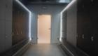 Kaapit, joissa led-valaistus vaatehuoneisiin